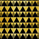 Gold glitter black triangles warm color by Alejandro Durán Fuentes