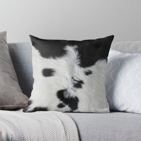 Cowhide Patch Throw Pillow