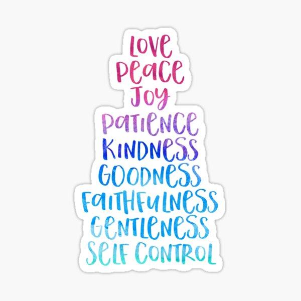 galatians 5:22, fruits of the spirit Sticker
