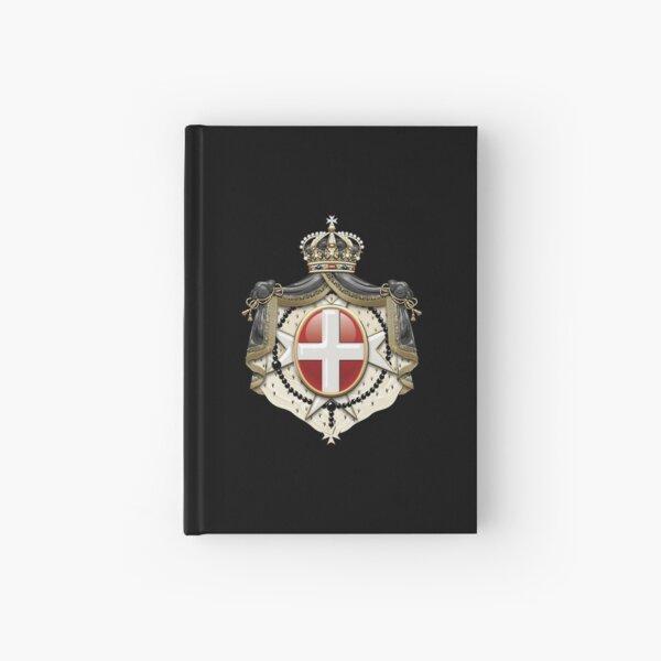 Sovereign Military Order of Malta Coat of Arms over Black Velvet Hardcover Journal