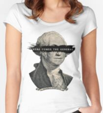 Here Comes the General! Women's Fitted Scoop T-Shirt