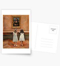 Watching Mona Lisa Postcards