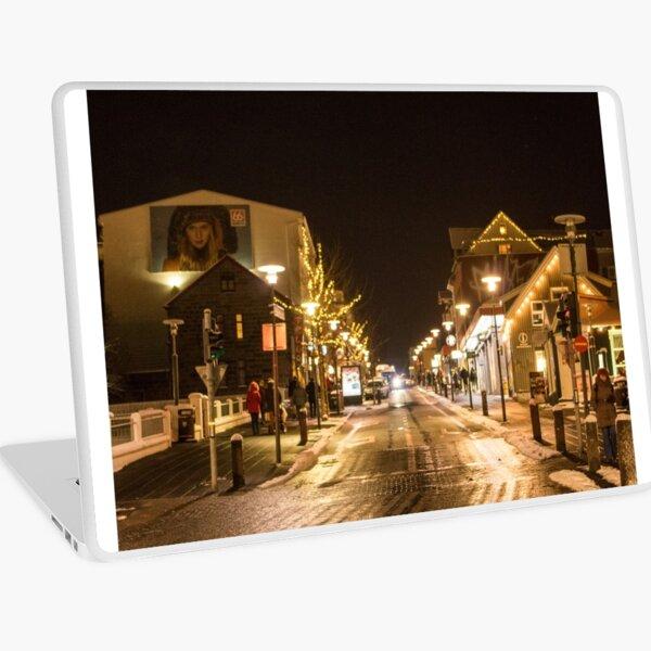 Downtown Reykjavik Laptop Skin