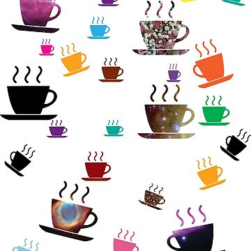 Cups of coffee Colorful by zaysa