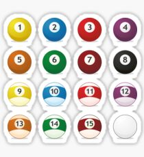 billard balls Sticker