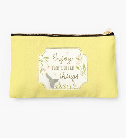 Enjoy the Little Things - Yellow Studio Pouch