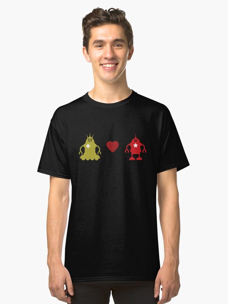 robot love Classic T-Shirt Front