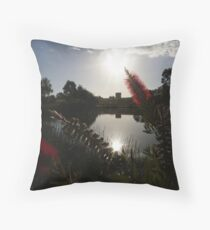 Lake Pillans Wetland with Lithgow Blast Furnace Ruins Throw Pillow