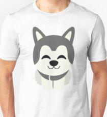 Siberian Husky Emoji Delighted Cheerful Look T-Shirt