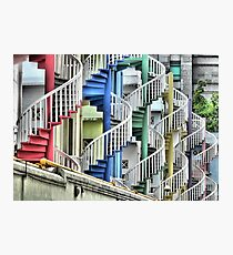 To Go Up or Down in Circles in Singapore. Photographic Print
