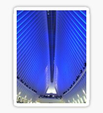 Holiday Light Show, World Trade Center Transit Hub Oculus, Lower Manhattan, New York City Sticker