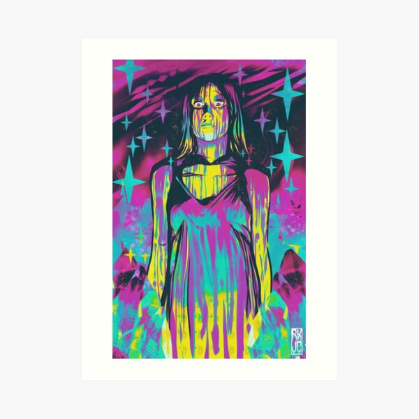Neon Horror: Carrie Art Print