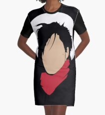 Prince - Hat & red scarf Graphic T-Shirt Dress