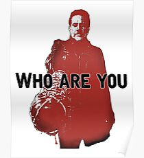 """The Walking Dead- Negan """"Who are you"""" Poster"""