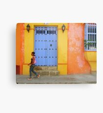 Colonial Style with Colorful Touch Metal Print