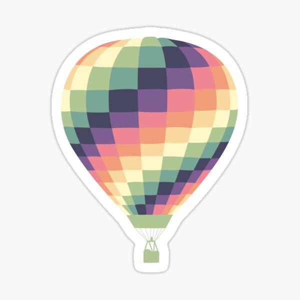 Colorful Hot Air Balloon Sticker Sticker