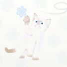 Kitten and snowflake by dreamingcat