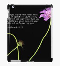 Matthew 6: 14-15 iPad Case/Skin