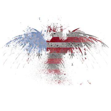 Smappy's US Flag Freedom Eagle by Smappys