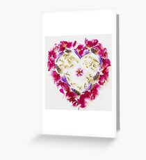 flower heart Greeting Card