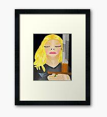 Woman Holding Sword Framed Print