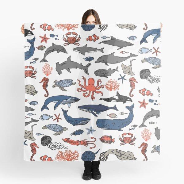 Ocean Animals by Andrea Lauren Scarf