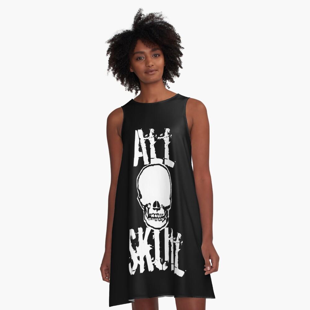 All Skull - The Dark Side A-Line Dress