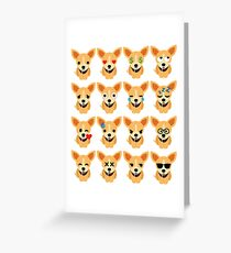 Chihuahua Emoji Different Facial Expression Greeting Card