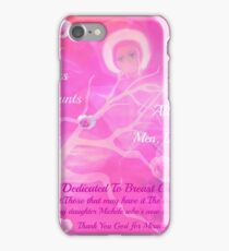 Angel For Breast Cancer- dedicated to Breast Cancer Month iPhone Case/Skin