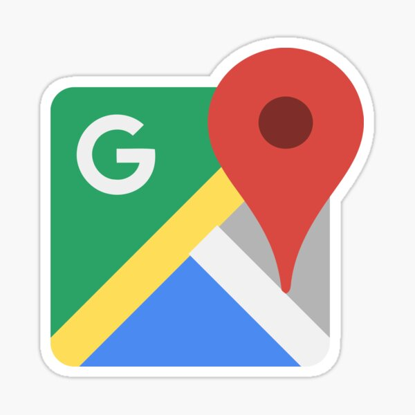 Google Maps Retro App Icon Sticker