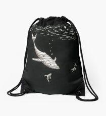 Whales and Mermaid Drawstring Bag