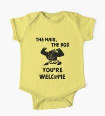 Das Haar, der Bod Sie sind von Last Petal Tees willkommen Baby Body Kurzarm