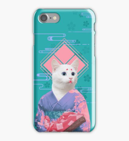 geisha cat iPhone Case/Skin