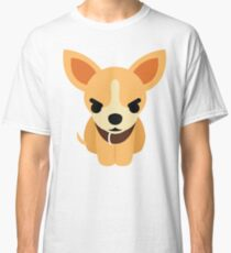Chihuahua Emoji Angry and Mad Look Classic T-Shirt