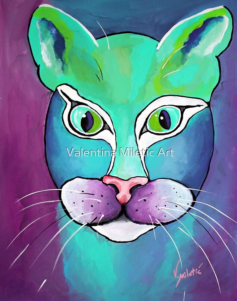 Oscar Cat Art by Valentina Miletic by Valentina Miletic Art