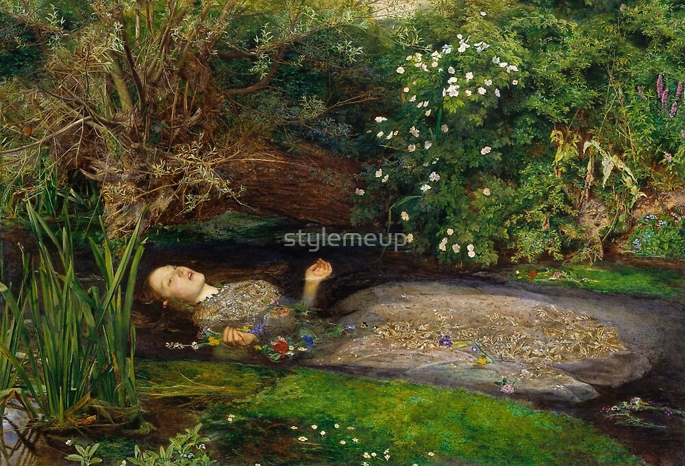 Ophelia by John Everett Millais by stylemeup