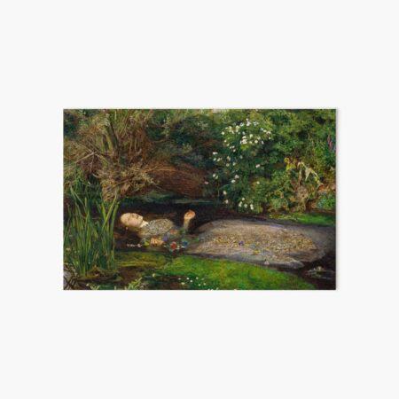 Ophelia by John Everett Millais Art Board Print
