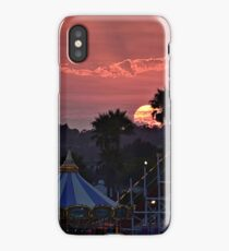 Giant Dipper Sunset at the Santa Cruz Beach Boardwalk iPhone Case/Skin