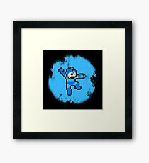 Mega Man Jumps and Shoots Framed Print