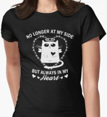 Always In My Heart - Cat Memorial Womens Fitted T-Shirt