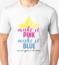 Make it Pink, Make it Blue by Last Petal Tees Unisex T-Shirt