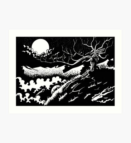 Two by Moonlight Art Print