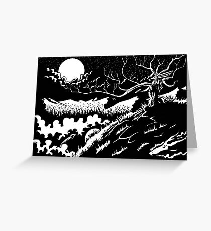 Two by Moonlight Greeting Card