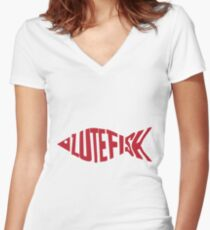 Lutefisk Fish Women's Fitted V-Neck T-Shirt