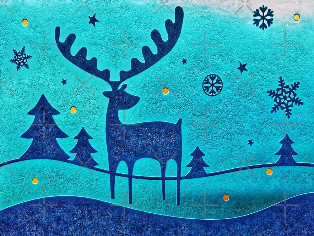 Capri Winter Reindeer by Italianricanart