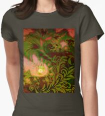 Tahitian Sunrise sultry tropical Fall fantasy dreamscape Womens Fitted T-Shirt