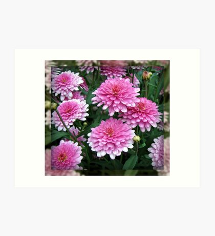 Pretty-in-Pink Summer Flowers Kunstdruck