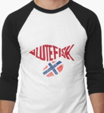 Lutefisk Norway Thumb Men's Baseball ¾ T-Shirt