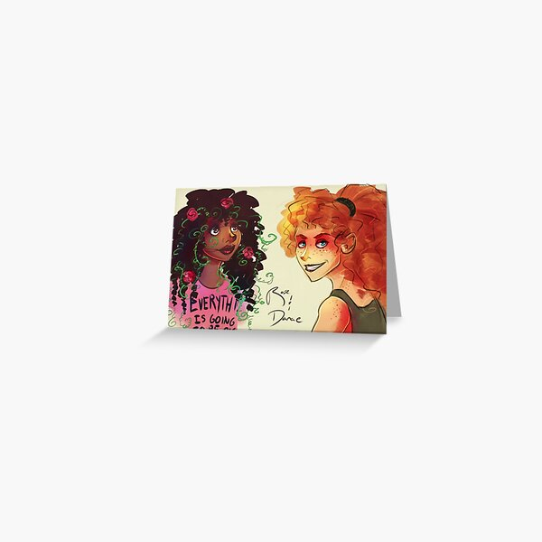 Flower Girl and Demolition Girl Greeting Card