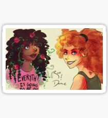 Flower Girl and Demolition Girl Sticker